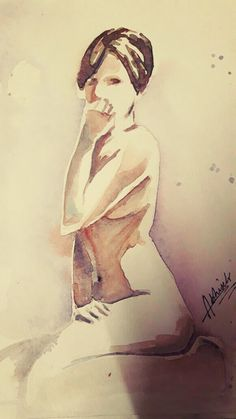 #nudeSERIES #minimalistic #watercolor @dabhisek570