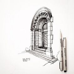 I walked by this Julia Morgan building in Berkeley. - Check out for more - - Architectural Sketch & Drawing - Sketchbook Drawings, Drawing Sketches, Art Drawings, Building Drawing, Building Sketch, Architecture Sketchbook, Perspective Drawing, Pen Sketch, Urban Sketchers