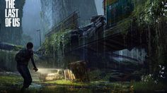 The Last of Us raining concept art