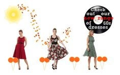 """""""'60s Dresses"""" by bluebanana ❤ liked on Polyvore featuring Voodoo Vixen"""