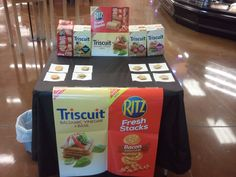 Bacon Ritz & Triscuit Demo! Gotta #Luv you some of these! They are delicious!!! ;-D