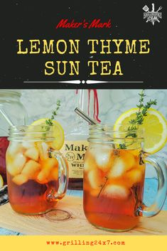 When I'm grilling out I have to have a cocktail in hand or something just doesn't feel right. Sometimes it's just a cold beer or a whiskey & coke but today I thought I'd take things in a different direction by making a refreshing spiked sun tea. It's easy to make and is the perfect beverage for your next cookout or family gatherings. Sun Tea Recipes, Top Recipes, Happy Grill, List Of American Foods, Brine For Pork, Making Cold Brew Coffee, Summertime Drinks, Drink Photo, Summer Barbecue