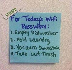 Gotta love innovative ways to get your kids to do their work! :-)