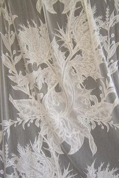 Timorous Beasties Fabric - Thistle Lace