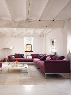 myidealhome: white + purple (via leeverlasting: Living Room Interior Design By Jehs+Laub)