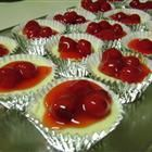 mini cheesecakes - Made these 9/22/2012 (blueberry and cherry) for church social. These were a hit! =)