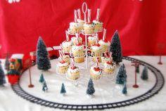 Polar Express Party, North Pole Cupcakes