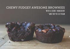 Chewy Fudgey Awesome Brownies #glutenfree #vegan
