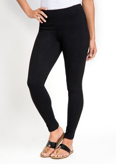 """The tulip hem and back slit add a feminine element to our best-selling, cotton-rich legging. FIT: Ankle length and designed with LysséFit, a hidden hi-waist and soft stretch lining, which ensures an hourglass silhouette. Flattering front and back seam details. 27"""" inseam. FABRIC: The custom designed fabric is the perfect blend of cotton   spandex offering the right amount of softness, full stretch, and recovery. Machine wash, line dry. FASHION: Easy and fashionable."""