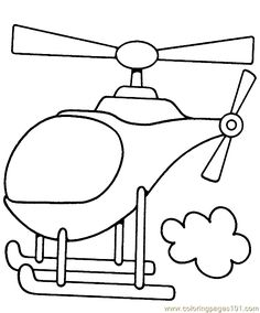 helicopter coloring pages | Coloring Pages Helicopter Coloring Page 01 (Transport > Air Transport ...