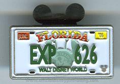 Walt Disney World® Cast Lanyard Collection 4 - License Plates - EXP 626