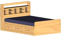 Mate's Double Bed - Captain's Bookcase Headboard Woodworking Plans