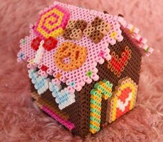 Perler beads house