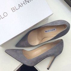 Grey Suede Pumps