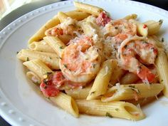 Penne and Shrimp with Herbed Cream Sauce - The Simply Luxurious Life®