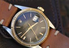 Rolex Datejust #1603 #1967 #black #gold #plexi #vintage #forsale #steinermaastricht #maastricht