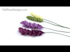 How To Make Fabric Flowers - Flower Stem - YouTube
