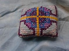 Age 10 ~ Handwork ~ Cross Stitch ~ Pincushion ~ project reasoning and information