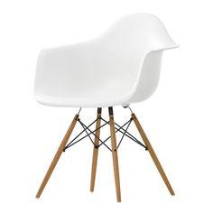 Eames DAW tuoli, valkoinen-vaahtera