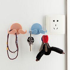 Creative Home Self-adhesive Beard Multifunction Power Plug Holder Hanger Hook #Affiliate