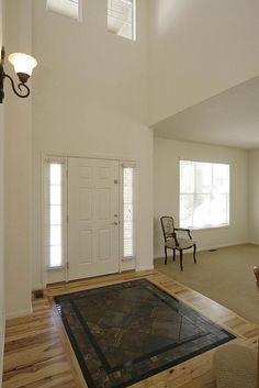 unique hardwood floor designs -  Slate and granite inlay floor