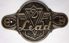 VINTAGE LEAD BICYCLE HEAD TUBE BADGE, JAPAN, JAPANESE, NOS | eBay
