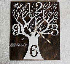 Drevené nástenné hodiny Handmade, Hand Made, Handarbeit