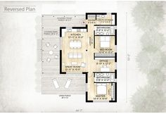 Cabin Style House Plan - 2 Beds 2 Baths 1230 Sq/Ft Plan #924-2 Floor Plan - Other Floor Plan - Houseplans.com