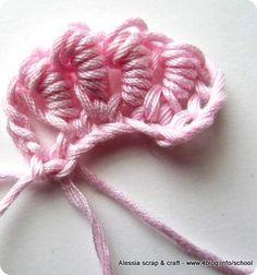 Scuola uncinetto: punto avvolto (bullion stitch) « Alessia, scrap & craft...Alessia, scrap & craft…