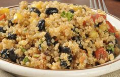 Mexican Quinoa Ingredients :  ½ cup cooked quinoa tossed with ¼ cup each black beans and thawed corn kernels, 1 diced red pepper, and chipotle chilli powder for taste. Calorie Count : 240