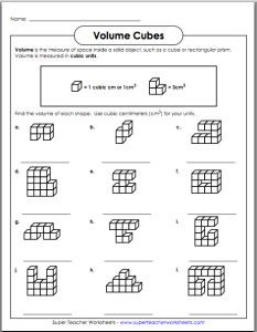 Worksheets Volume Counting Cubes Worksheet count cubes and student on pinterest volume worksheet