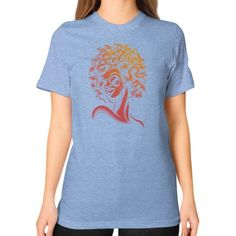 Funky Medusa II Unisex T-Shirt (on woman)
