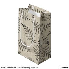 Rustic Woodland Ferns Wedding Small Gift Bag