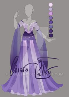 :: Adoptable Lavender Outfit: AUCTION OPEN :: by VioletKy on DeviantArt