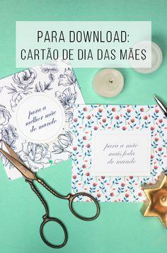 Para completar o presente do dia das mães: cartão bacanudo! o/ É só fazer o download gratuito e imprimir! // palavras-chave: presente de dia das mães, cartão, papel, diy, faça você mesmo, imprimível, cartão para imprimir, cartão bonito, cartão engraçado.
