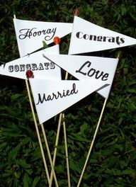 wedding send-off: wedding pennants @Sarah