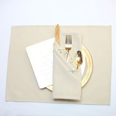 Matte Champagne Placemats 12-pack 12 x 16 inches Placemats
