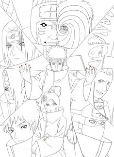 Naruto Artbook : Akatsuki Lineart [PSD] By On DeviantArt - Coloring Home Wallpaper Naruto Shippuden, Naruto Wallpaper, Naruto Shippuden Anime, Boruto, Itachi, Otaku Anime, Manga Anime, Anime Art, Naruto Sketch Drawing