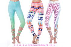 Flexi Lexi: Get Sun in New Spring Collection! Take your activewear to the next level with these fun prints and cuts.