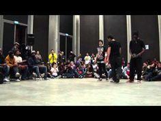 battle débutant au 104 bgirls Pauline et Alie + bboy The Tricks - YouTube