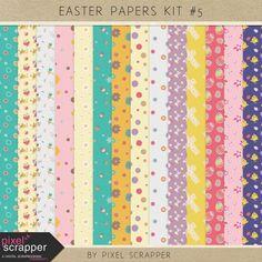 Easter Papers Kit #5   digital scrapbooking   spring