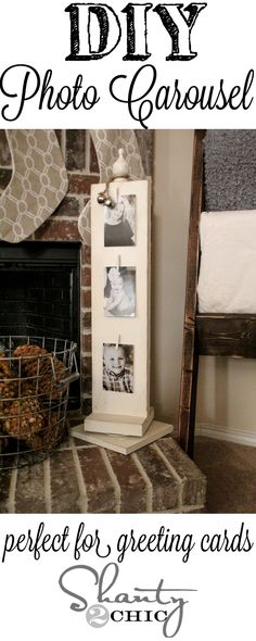 Love this DIY Photo Carousel!  Looks easy to make! #12days72ideas