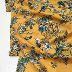 Sew Over It, Teal Flowers, Viscose Fabric, Yellow Background, Hot Days, Keep Your Cool, Mustard Yellow, Dressmaking, Floral Tops