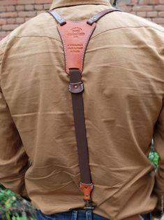 """Пояса, ремни ручной работы. Ярмарка Мастеров - ручная работа. Купить Подтяжки кожаные """"Верн"""". Handmade. Коричневый, подтяжки мужские"""