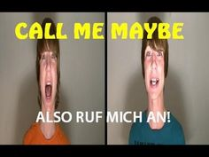 """CALL ME MAYBE"" - AUF DEUTSCH! (In German, German lyrics subtitled) these guys are adorable"