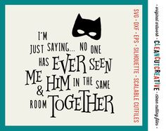 Boy Superhero Never Seen Together - SVG Studio3 DXF EPS png - cut file cutting file clipart - Cricut and Silhouette - clean cutting files
