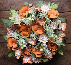 Langlebiges Blumenbouquet #Blumen #Basteln #Papier #Stempel #Stampin Up #Papierblumen #Herbst #Winter #Tischdekoration #Tischdeko #Deko #Dekoration #Framelits #Pflanzen-Potpourri #Stanze #Steifmütterchen