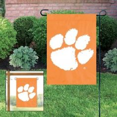 Clemson Tigers Applique Embroidered Mini-Window Or Yard/Garden Flag