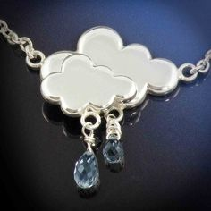 Silver Raincloud Necklace by LaurenGraceJewellery on Etsy, $230.00
