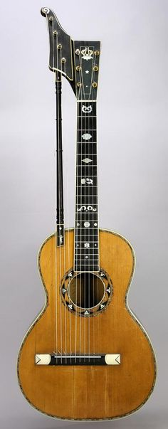 Hans J. Hansen's harp-guitar, made in Chicago and patented in 1891